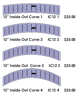 "12"" Inside Out Curve (IOC12- 1,2,3,4)"