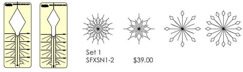 Spin-E-Fex Snowflake Template Set
