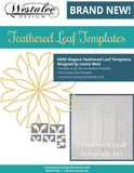 Westalee Design Feathered Leaf Template Set of 5