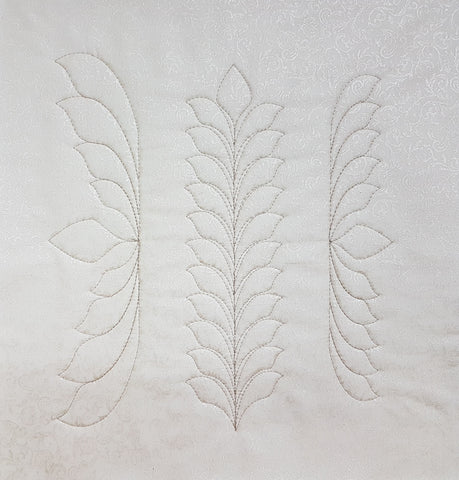 NEW! Feathered Leaf Template Set of 5