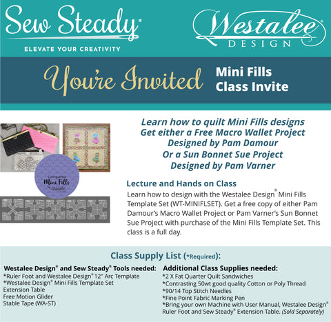 Mini Fills Templates: Sun Bonnet Sue Quilted Block Class Achievement Program (CAP)