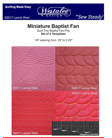 NEW! Miniature (Mini) Baptist Fan 4pc Template Set