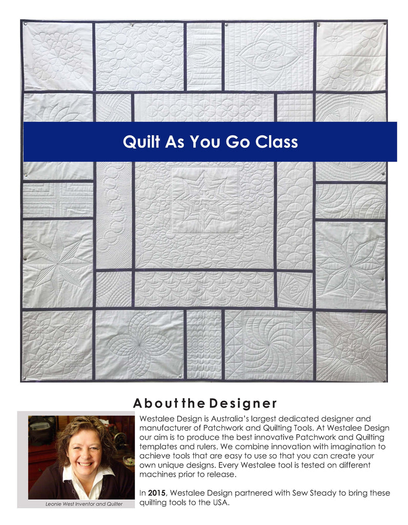 Westalee Design - Quilt As You Go - Quilt Series (Lesson 1) – www ...