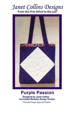 Purple Passion Bag Project  - by Janet Collins - Template of Month