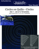 Circles On Quilts Template Sets (#'s 1-3) Template of the Month (TOM)