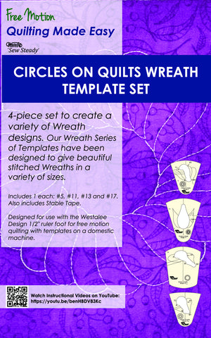 Circles on Quilts Wreath Template Set - Template of Month