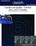 "Circles On Quilts Template Set 3 - 2"" - 12"""