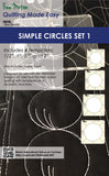 "Simple Circles - Available in 4 Sizes 0.5""- 2"" or choose 4pc set"