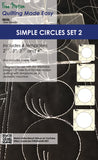 "Simple Circles: Available in 8 sizes 0.5""- 4"""