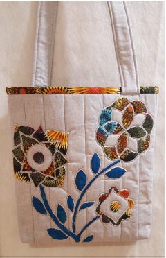 Autumn Blooms Bag Pattern - By Janet Collins