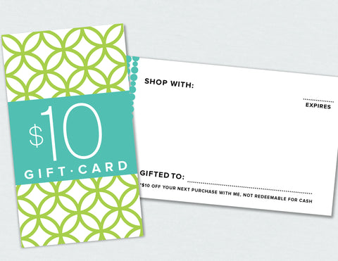 $10 Gift Card (Digital Download)