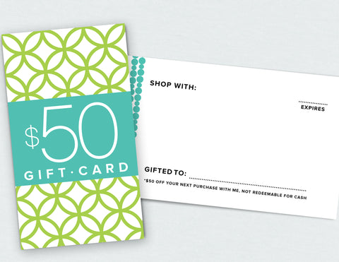 $50 Gift Card (Digital Download)