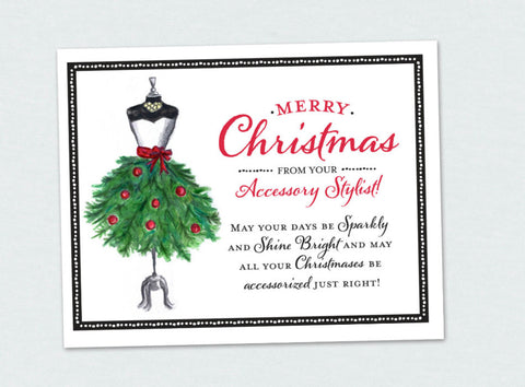Accessory Stylist/Jewelry Lady Christmas Card