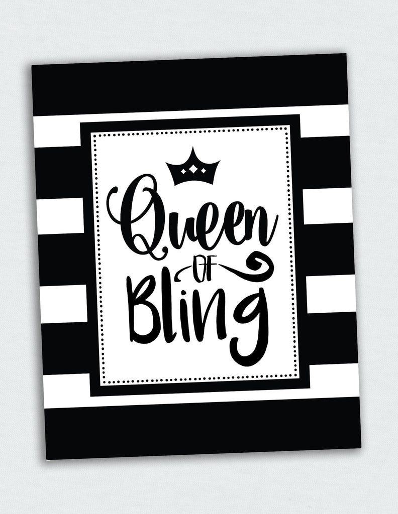 8x10 Queen of Bling Print