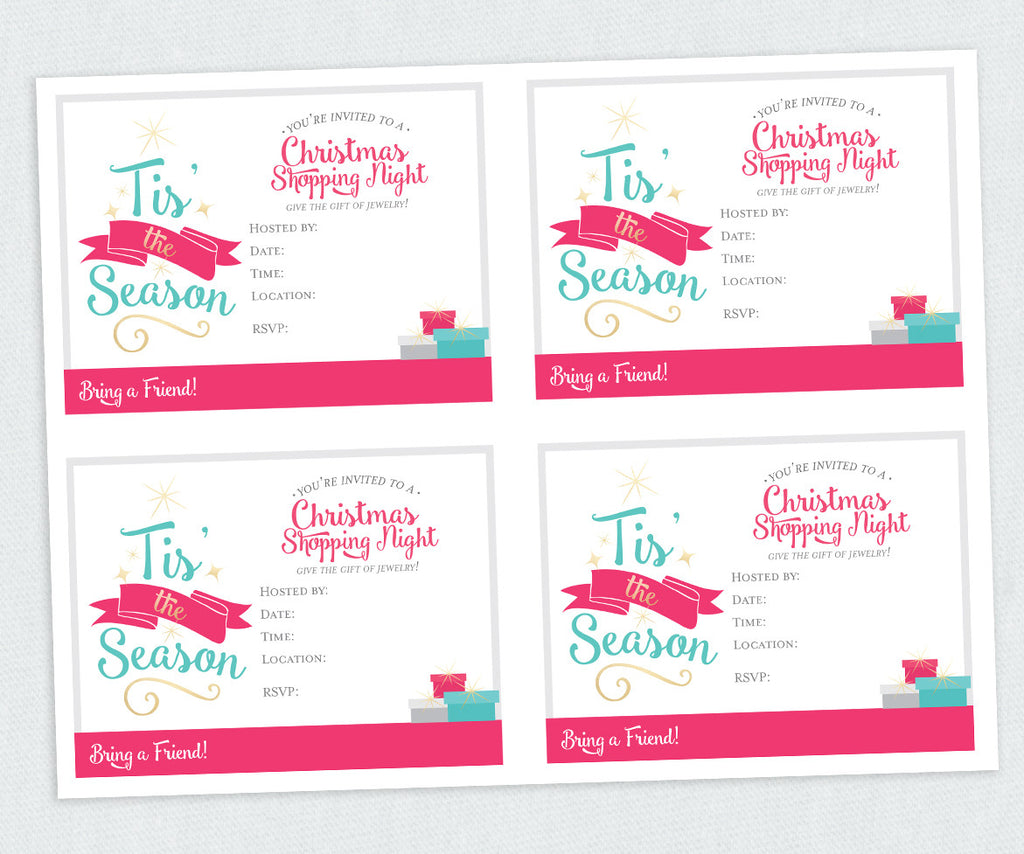 Tis' the Season Christmas Invite Only (Digital Download)