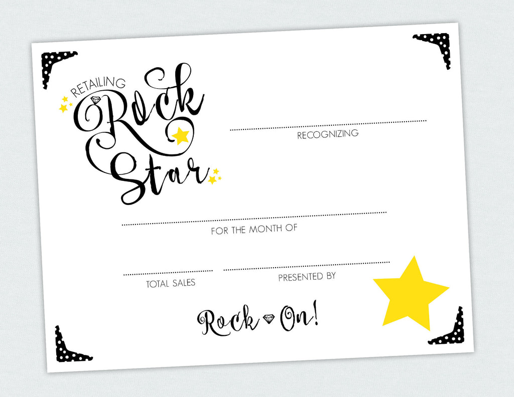 Retailing Rock Star Certificate Penny Lacey