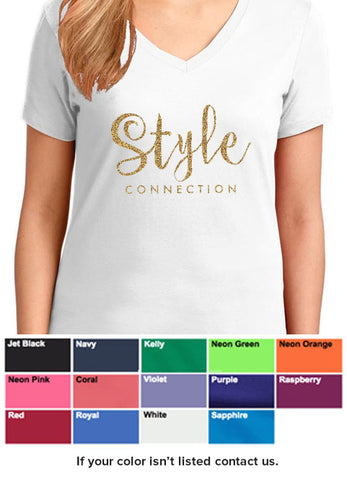 Style Connection T-shirt (Gold Ink)