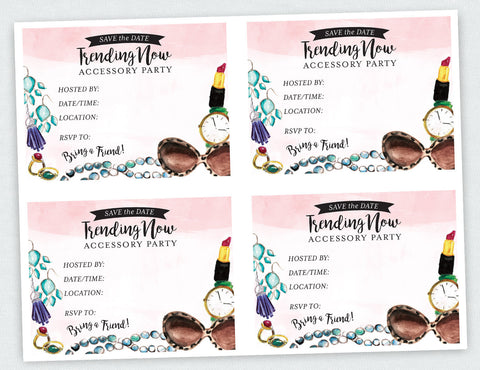 """Trending Now"" Accessory Party Save the Date Social Media Bundle (Digital Download)"