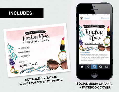 """Trending Now"" Accessory Party Social Media Bundle (Digital Download)"
