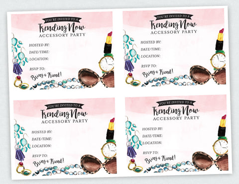 """Trending Now"" Accessory Party Invite (Digital Download)"