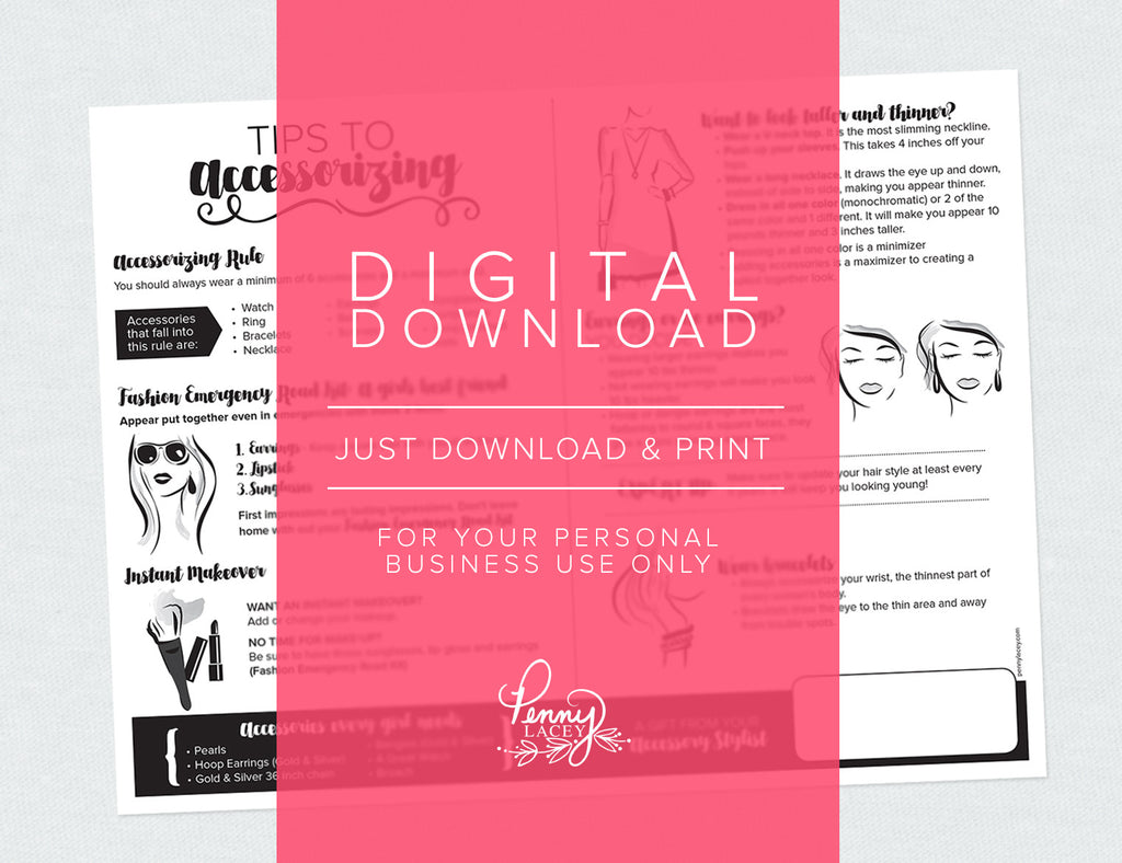 Tips to Accessorizing (Digital Download)