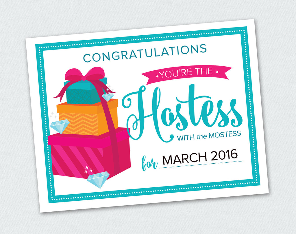 Hostess with the Mostess Card (Digital Download)