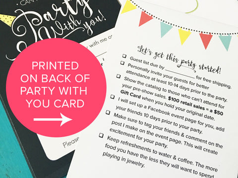 Hostess Party Check List (Digital Download)