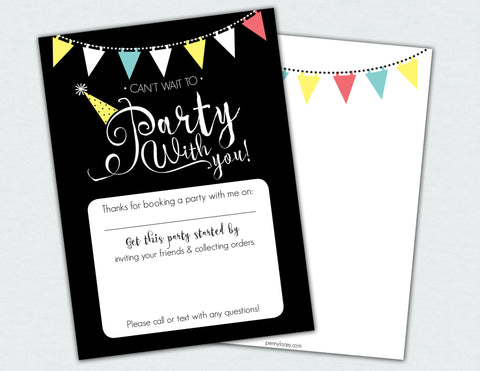 Party With You Flat Note Card