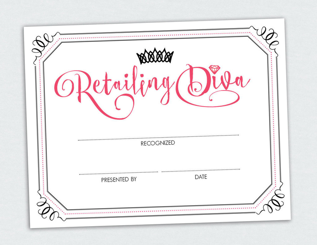 Retailing Diva Certificate Penny Lacey