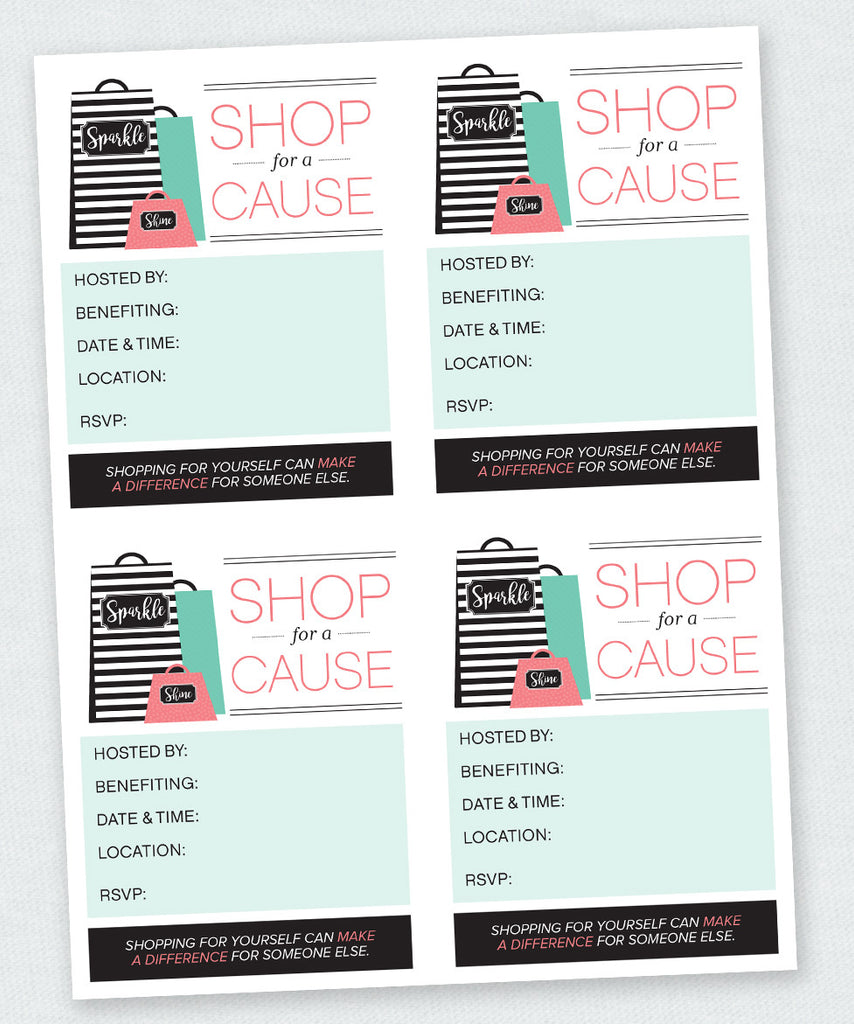 """Shop For a Cause"" Invite (Digital Download)"