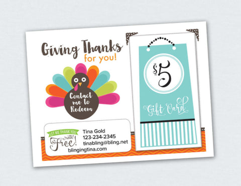Giving Thanks for you Card