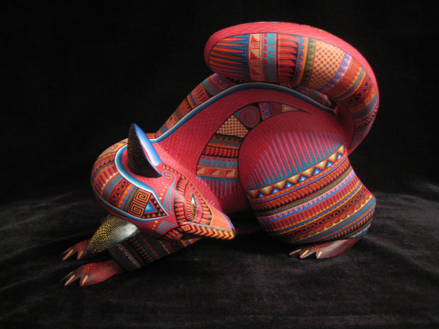 Beautiful Mexican Folk Art Oaxacan Wood Carving Fox by Julia Fuentes