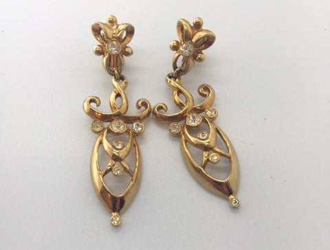 1950's Frances Hirsch Clip-on Dangle Earrings