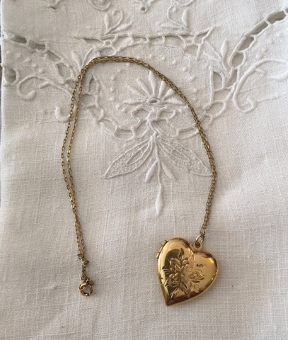1950's 14K Gold Filled Heart Locket
