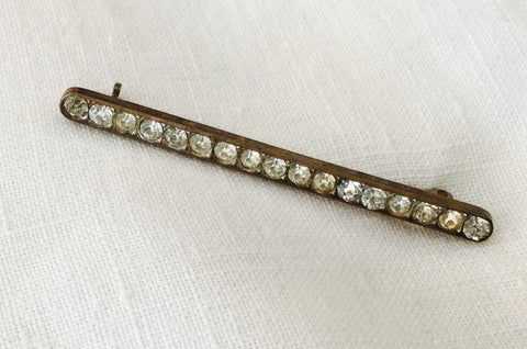 Antique Rhinestone Bar Pin