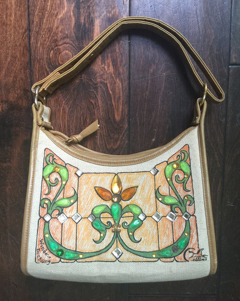 "1970's Signed Enid Collins Canvas ""Window Dressing"" Bag"