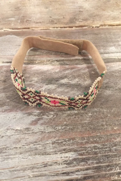 1960's Beaded Boho Choker Necklace