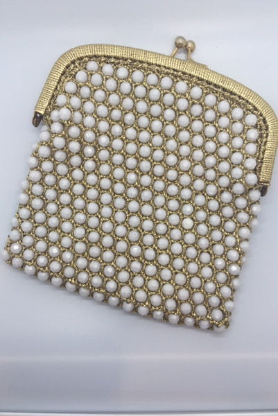 1950's Frances Hirsch Gilded & Beaded Clutch