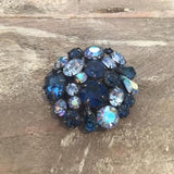 1950's Blue by You Crystal Brooch