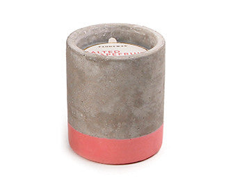 Paddywax Concrete Candle: Salted Grapefruit 3.5oz