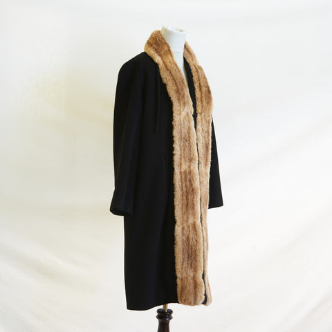 1940's Nancy's of Hollywood Cashmere Coat l M