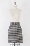 1980's Diamond Plaid Wool Skirt l M