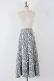 1970's Murmuration Knit Maxi Skirt l M