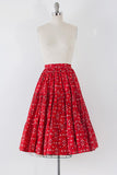 1950's Handkerchief Circle Skirt l M