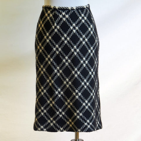 1970's Harold's Diamond Plaid Wool Skirt