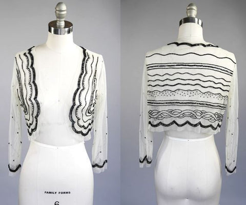 1920's Art Deco Sheer Bolero l S/M