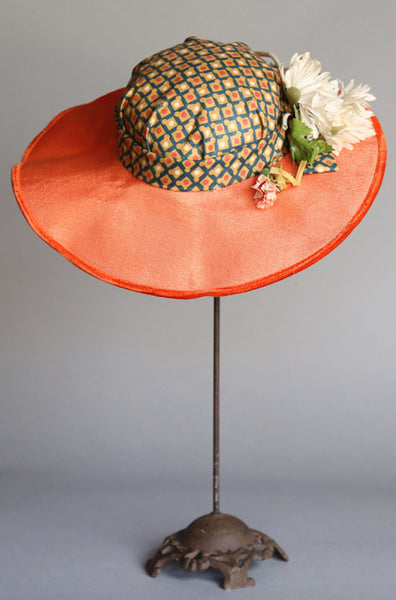 1950's Smith & Neil Straw Tilt Hat