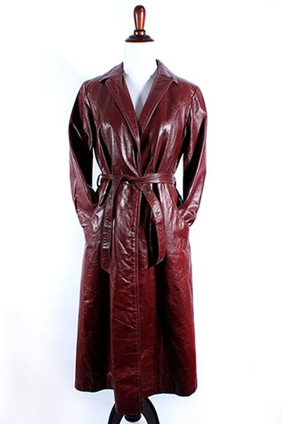 1970's Wilson's Leather Trench Coat l S