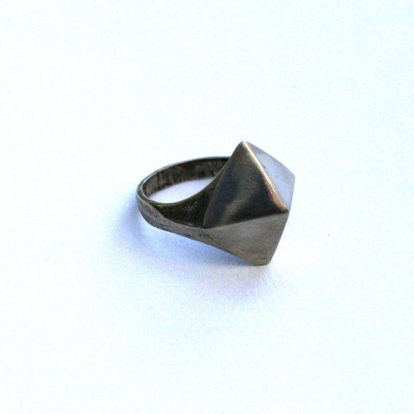 Pyramid Ring Repurposed Metal l 7