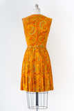 1960's Marek Paisley Dress l S